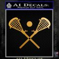 Lacrosse Decal Sticker D1 Metallic Gold Vinyl 120x120