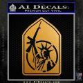 Lady Liberty AK 47 Decal Sticker Metallic Gold Vinyl 120x120
