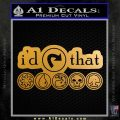 MTG Id Tap That V4 Decal Sticker Metallic Gold Vinyl 120x120