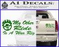 Mad Max Decal Sticker My Other Ride Is A War Rig Green Vinyl 120x97