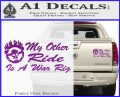 Mad Max Decal Sticker My Other Ride Is A War Rig Purple Vinyl 120x97