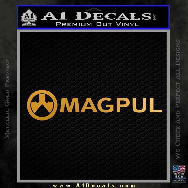 Magpul Firearms DW Decal Sticker Metallic Gold Vinyl