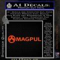 Magpul Firearms DW Decal Sticker Orange Vinyl Emblem 120x120