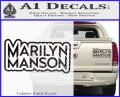 Marilyn Manson Decal Sticker Stacked Carbon Fiber Black 120x97