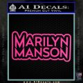 Marilyn Manson Decal Sticker Stacked Hot Pink Vinyl 120x120