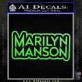 Marilyn Manson Decal Sticker Stacked Lime Green Vinyl 120x120