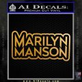 Marilyn Manson Decal Sticker Stacked Metallic Gold Vinyl 120x120