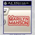 Marilyn Manson Decal Sticker Stacked Red Vinyl 120x120