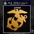 Marine Globe Decal Sticker DTY Metallic Gold Vinyl 120x120