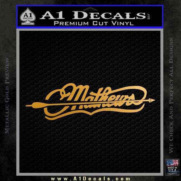Mathews Archery Split Decal Sticker Metallic Gold Vinyl