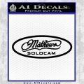 Mathews Solocam Archery Decal Sticker Black Vinyl Logo Emblem 120x120