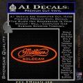 Mathews Solocam Archery Decal Sticker Orange Vinyl Emblem 120x120