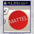 Mattel Logo Decal Sticker Red Vinyl 120x120