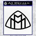 Maybach Motors Logo Decal Sticker Black Vinyl Logo Emblem 120x120