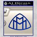 Maybach Motors Logo Decal Sticker Blue Vinyl 120x120