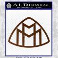 Maybach Motors Logo Decal Sticker Brown Vinyl 120x120
