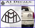 Maybach Motors Logo Decal Sticker Carbon Fiber Black 120x97