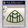 Maybach Motors Logo Decal Sticker Dark Green Vinyl 120x120