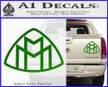 Maybach Motors Logo Decal Sticker Green Vinyl 120x97