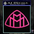 Maybach Motors Logo Decal Sticker Hot Pink Vinyl 120x120
