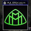 Maybach Motors Logo Decal Sticker Lime Green Vinyl 120x120