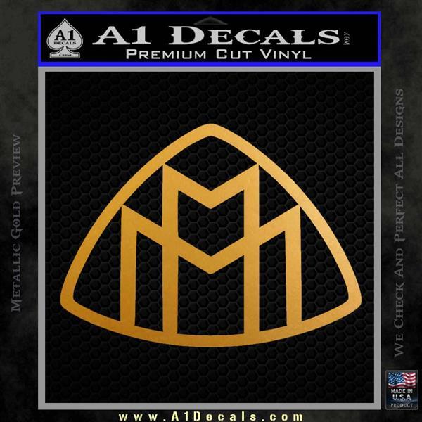Maybach Motors Logo Decal Sticker Metallic Gold Vinyl