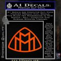 Maybach Motors Logo Decal Sticker Orange Vinyl Emblem 120x120