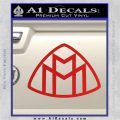 Maybach Motors Logo Decal Sticker Red Vinyl 120x120