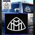 Maybach Motors Logo Decal Sticker White Vinyl Emblem 120x120