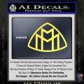 Maybach Motors Logo Decal Sticker Yellow Vinyl 120x120