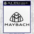 Maybach Motors Stacked Decal Sticker Black Vinyl Logo Emblem 120x120