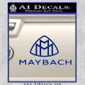 Maybach Motors Stacked Decal Sticker Blue Vinyl 120x120