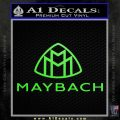 Maybach Motors Stacked Decal Sticker Lime Green Vinyl 120x120