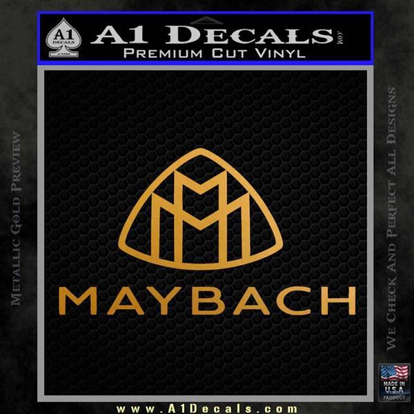 Maybach Motors Stacked Decal Sticker Metallic Gold Vinyl