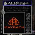 Maybach Motors Stacked Decal Sticker Orange Vinyl Emblem 120x120
