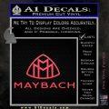 Maybach Motors Stacked Decal Sticker Pink Vinyl Emblem 120x120