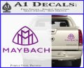 Maybach Motors Stacked Decal Sticker Purple Vinyl 120x97