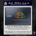 Maybach Motors Stacked Decal Sticker Sparkle Glitter Vinyl Sparkle Glitter 120x120