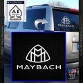 Maybach Motors Stacked Decal Sticker White Vinyl Emblem 120x120
