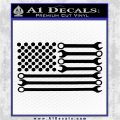 Mechanics Flag Decal Sticker America USA Black Vinyl Logo Emblem 120x120