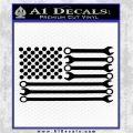 Mechanics Flag Decal Sticker America USA Black Vinyl Logo Emblem 120x120