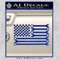 Mechanics Flag Decal Sticker America USA Blue Vinyl 120x120