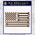 Mechanics Flag Decal Sticker America USA Brown Vinyl 120x120