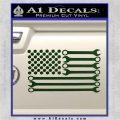 Mechanics Flag Decal Sticker America USA Dark Green Vinyl 120x120
