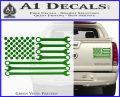Mechanics Flag Decal Sticker America USA Green Vinyl 120x97