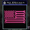 Mechanics Flag Decal Sticker America USA Hot Pink Vinyl 120x120
