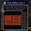 Mechanics Flag Decal Sticker America USA Orange Vinyl Emblem 120x120