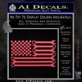 Mechanics Flag Decal Sticker America USA Pink Vinyl Emblem 120x120
