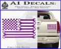 Mechanics Flag Decal Sticker America USA Purple Vinyl 120x97