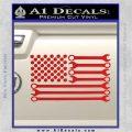 Mechanics Flag Decal Sticker America USA Red Vinyl 120x120